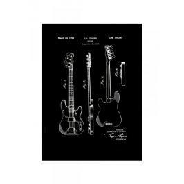Fender Gitara Basowa Projekt 1952 - retro plakat