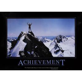 Osiągnięcia Wspinaczka Górska - plakat motywacyjny