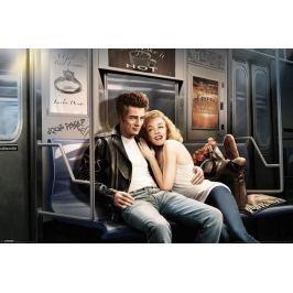 Subway Ride James Dean i Marylin Monroe - plakat