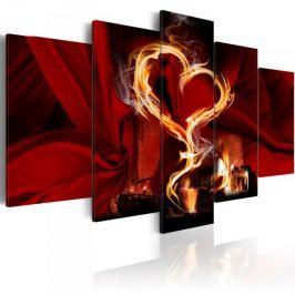 Obraz - Płomienie miłości: serce