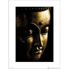 Buddha Gold Close Up - plakat premium