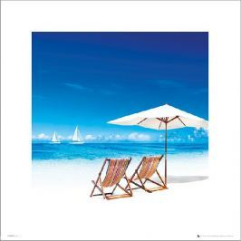 Beach Deck Chairs - plakat premium