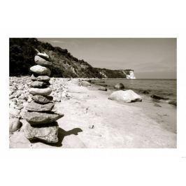 Kamienie na plaży - plakat
