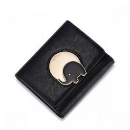 NUCELLE Krótki czarny portfel na szczęście