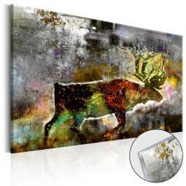 Obraz na szkle akrylowym - Szmaragdowy karibu [Glass]