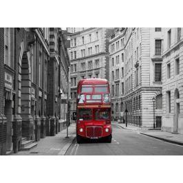 Londyn Czerwony Autobus - fototapeta