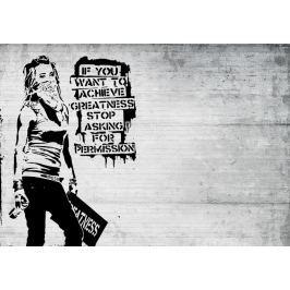 Fototapeta Banksy Girl mural flizelinowa