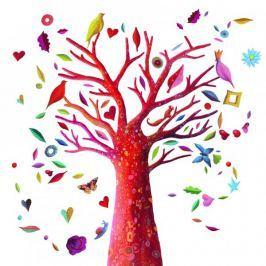 Naklejki - Kolorowe drzewo
