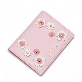 JUST STAR Uroczy portfel w kwiatki Różowy