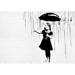 Fototapeta Banksy Deszcz mural flizelinowa