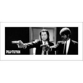 Pulp Fiction 2 guns - plakat premium
