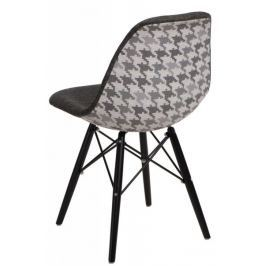 Krzesło P016W Pattern szar-pepitka/black