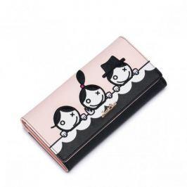 Długi dziewczęcy portfel Różowy
