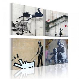 Obraz - Banksy - cztery twórcze pomysły