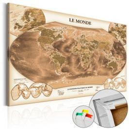 Obraz na korku - LE MONDE [Mapa korkowa]