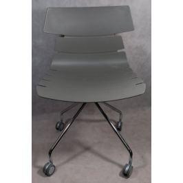 Krzesło Techno Roll szare outlet