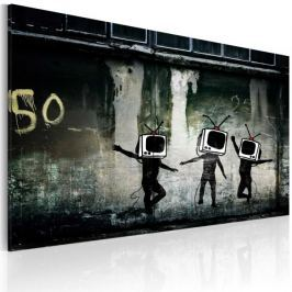 Obraz - Taniec telewizyjnych głów (Banksy)