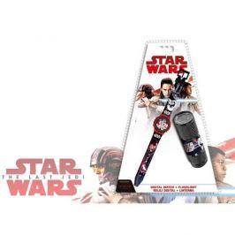 Zegarek na rękę i latarka Star Wars