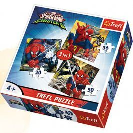 TREFL PUZZLE 3W1 ŚWIAT SPIDERMANA SPIDER-MAN 34822