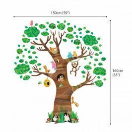 Naklejki bardzo duże Drzewko ze zwierzętami