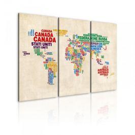 Obraz - Włoskie nazwy państw w żywych kolorach - tryptyk