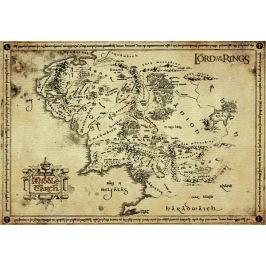 Antyczna Mapa na Pergaminie - Władca Pierścieni Lord of the Rings - Edycja Kolekcjonerska - plakat premium