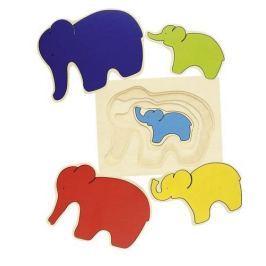Puzzle warstwowe słoń, 5 el.