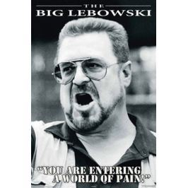 The Big Lebowski You are Entering a World of Pain - plakat