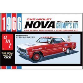Model Plastikowy Do Sklejania AMT - 1966 Chevy Nova-Bill Jenkins
