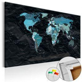 Obraz na korku - Czarny ocean [Mapa korkowa]