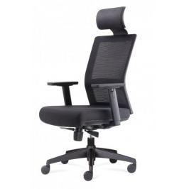 Fotel biurowy Press czarny/czarny z zagł ówkiem