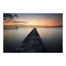 Pomost o zachodzie słońca - plakat