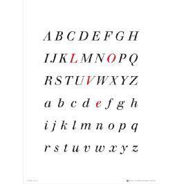 Alphabet Love - plakat premium