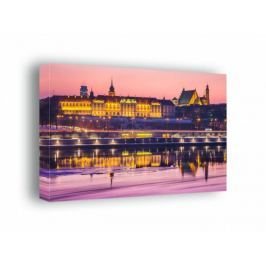 Warszawa Zamek Królewski Bajkowy Zamek - obraz na płótnie