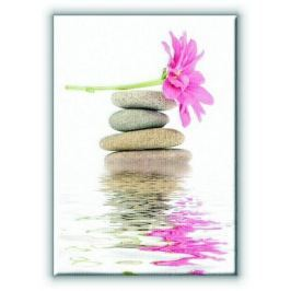 Spa. Kamienie zen i kwiaty - Obraz na płótnie
