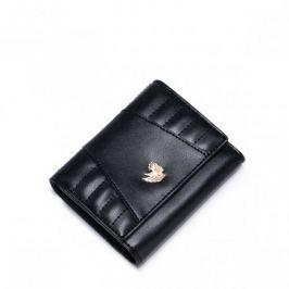 NUCELLE Krótki stylowy portfel Czarny