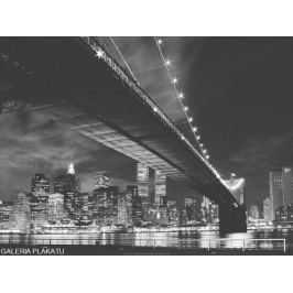 Nowy Jork Manhattan night - plakat premium