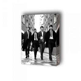 The Beatles w Londynie - obraz na płótnie