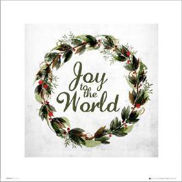 Christmas Wreath Joy - plakat premium