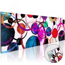 Obraz na szkle akrylowym - Kolorowe koła [Glass]
