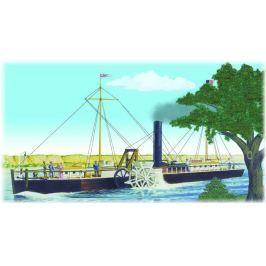 Model Plastikowy Do Sklejania Lindberg (USA) - Fulton Clermont Paddle Wheel Steamship
