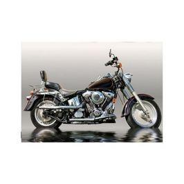 Czarny Motocykl - plakat premium