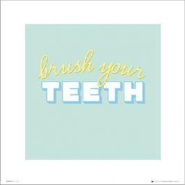 Bathroom Brush Teeth - plakat premium