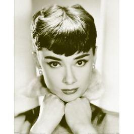 Audrey Hepburn Sepia - plakat