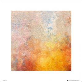 Abstract Yellow - plakat premium