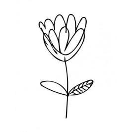 Minimalistyczny kwiat - plakat