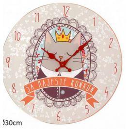 Drewniany zegar ścienny 30cm Król Kot