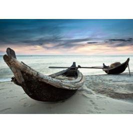 Stare łodzie, Wietnam - fototapeta