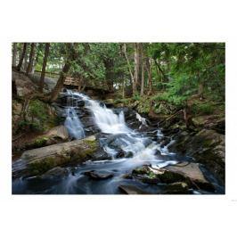 Górski wodospad - plakat