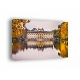 Warszawa Pałac na Wodzie Jesienny Pałac - obraz na płótnie